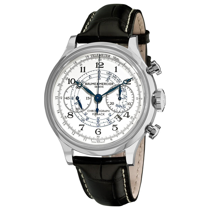 Baume & Mercier Capeland Automatic Chronograph Automatic Black Leather Watch MOA10006