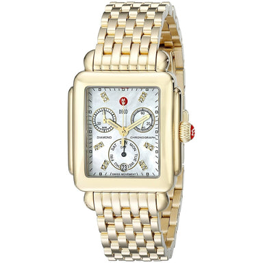 Michele Deco Quartz Gold-Tone Stainless Steel Watch MWW06P000016