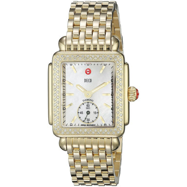 Michele Deco 16 Quartz Diamond Gold-Tone Stainless Steel Watch MWW06V000003