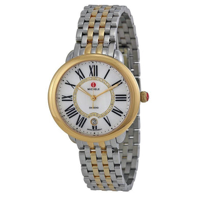 Michele Serein 16 Quartz Diamond Two-Tone Stainless Steel Watch MWW21B000015