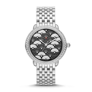 Michele Serein 16 Quartz Fan Diamond Stainless Steel Watch MWW21B000104