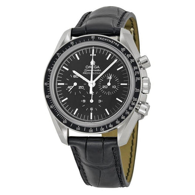 Omega Speedmaster Professional Moonwatch Mechanical Chronograph Hand Wind Black Leather Watch O31133423001002
