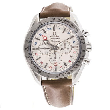 Omega Speedmaster Broad Arrow GMT Chronometer Automatic Chronograph Automatic Brown Leather Watch O38813037