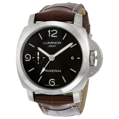 Panerai Luminor 1950 Acciaio Automatic 3 Days Automatic Brown Leather Watch PAM00320