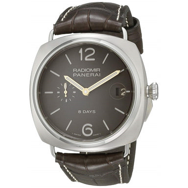 Panerai Radiomir Titanio Mechanical 8 Days Mechanical Hand Wind Brown Leather Watch PAM00346