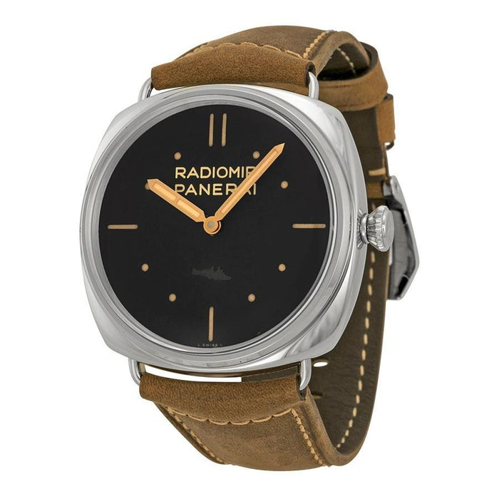 Panerai Radiomir SLC Mechanical 3 Days Hand Wind Brown Leather Watch PAM00425