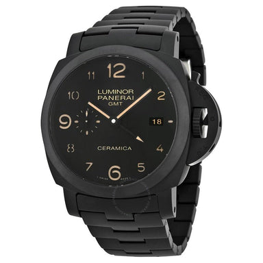 Panerai Luminor 1950 Tuttonero GMT Automatic 3 Days Automatic Black Ceramic Watch PAM00438