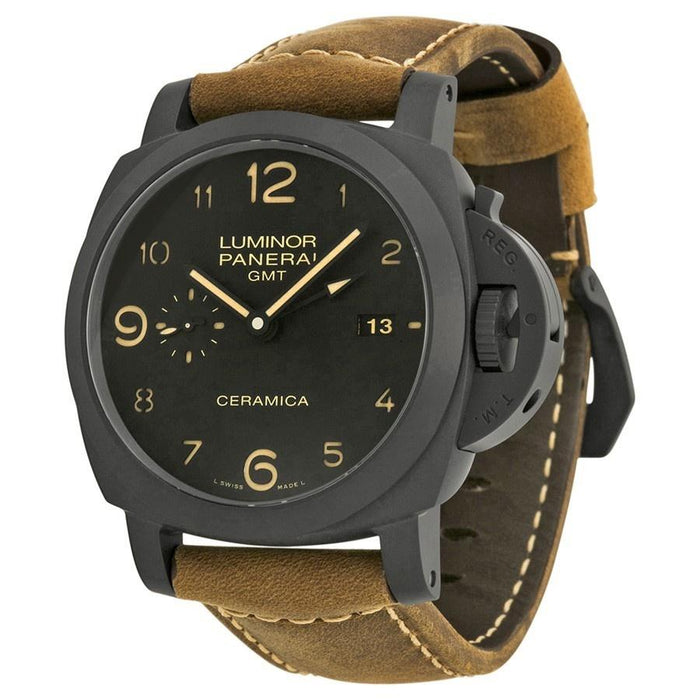 Panerai Luminor Marina 1950 3 Days GMT Automatic Automatic Brown Leather Watch PAM00441