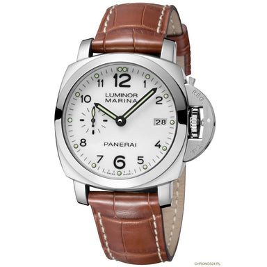 Panerai Luminor 1950 Acciaio Automatic 3 Days Brown Leather Watch PAM00523