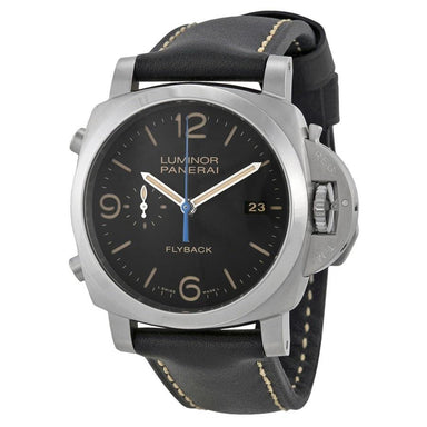 Panerai Luminor 1950 Flyback Automatic 3 Days Black Leather Watch PAM00524