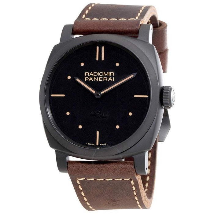 Panerai Radiomir 1940 3 Days Ceramica Mechanical Hand Wind Brown Leather Watch PAM00577