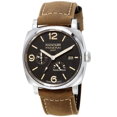 Panerai Radiomir 1940 3 Days GMT Acciaio Automatic Automatic Brown Leather Watch PAM00658