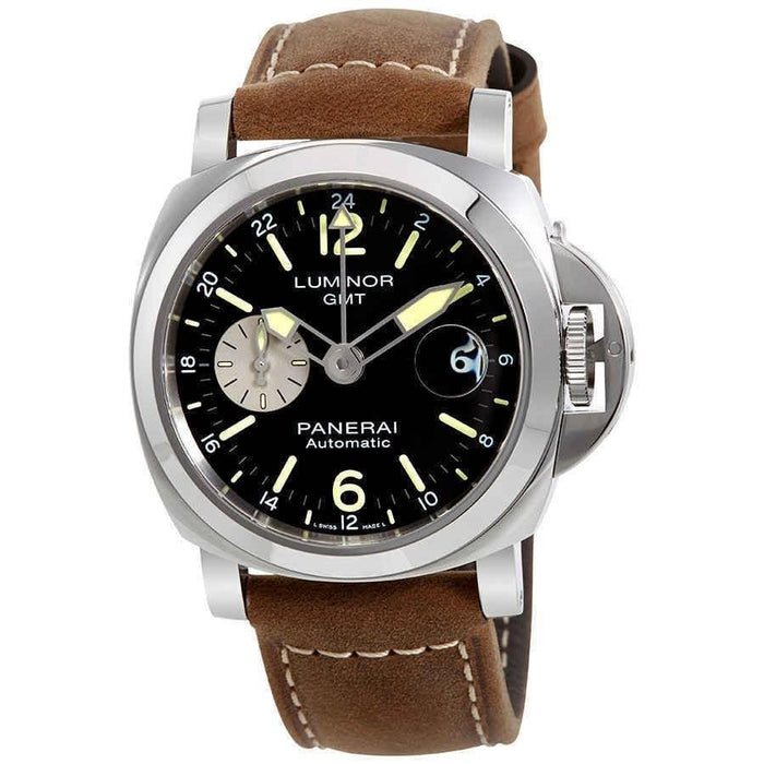Panerai Luminor GMT Automatic Brown Leather Watch PAM01088