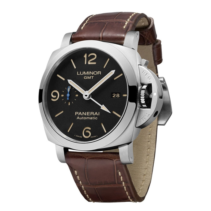 Panerai Luminor Calibre P.9011 Automatic GMT Automatic Brown Leather Watch PAM01320