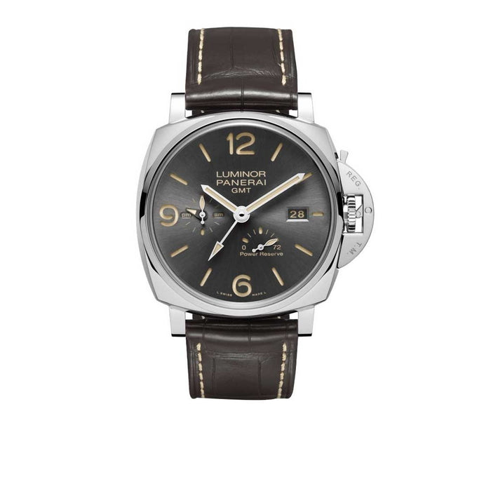 Panerai Luminor Due GMT Automatic Brown Leather Watch PAM0944