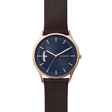 Skagen Holst Quartz Brown Leather Watch SKW6395
