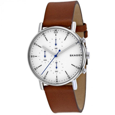 Skagen Signatur Quartz Chronograph Brown Leather Watch SKW6462