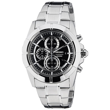 Seiko  Quartz Chronograph Stainless Steel Watch SNDE65