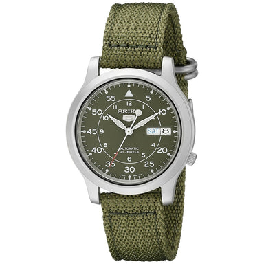Seiko 5 Automatic Automatic Green Canvas Watch SNK805