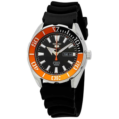 Seiko Sports Automatic Black Rubber Watch SRPC59