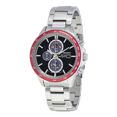 Seiko Solar Solar Chronograph Stainless Steel Watch SSC433