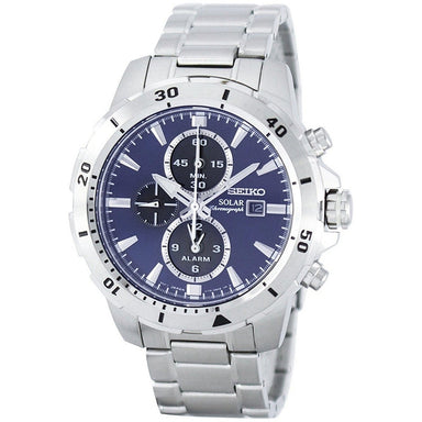 Seiko Solar Solar Chronograph Stainless Steel Watch SSC555