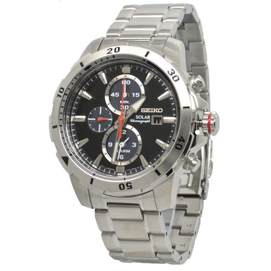 Seiko Solar Solar Chronograph Stainless Steel Watch SSC557