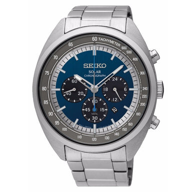 Seiko Solar Solar Chronograph Stainless Steel Watch SSC619