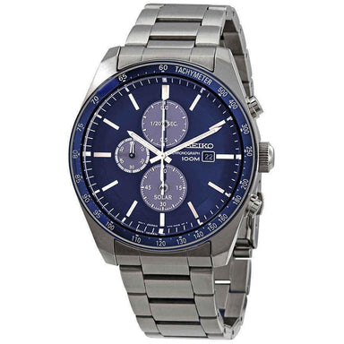 Seiko Solar Solar Chronograph Stainless Steel Watch SSC719