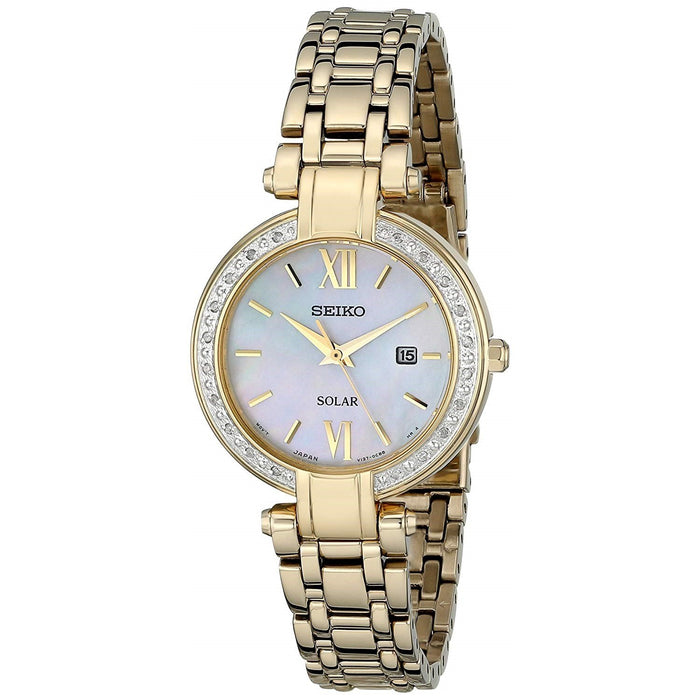 Seiko Tressia Solar Gold-Tone Stainless Steel Watch SUT182