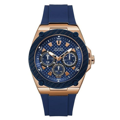Guess Casual Quartz Chronograph Blue Silicone Watch U1049G2