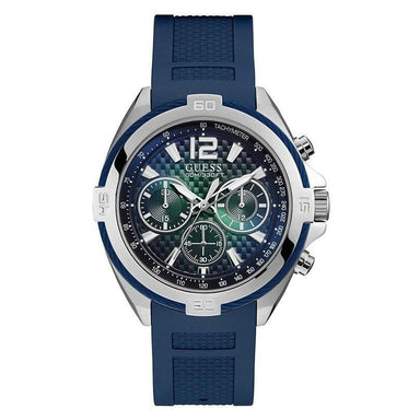Guess Casual Quartz Chronograph Blue Silicone Watch U1168G1