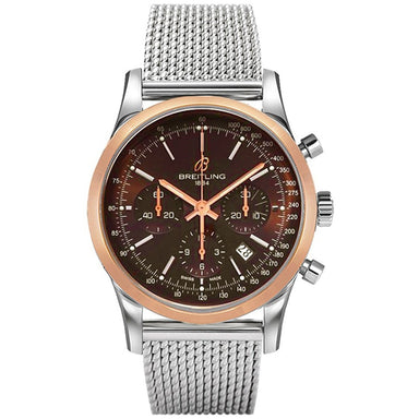 Breitling Transocean Automatic Chronograph Automatic 18kt Rose Gold Stainless Steel Watch UB015212-Q594