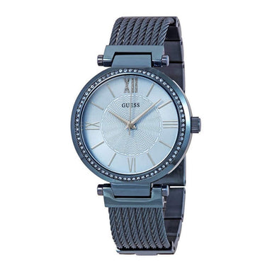 Guess Soho Quartz Blue Stainless Steel Watch W0638L3