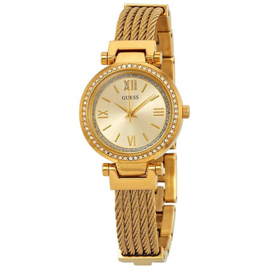 Guess Soho Quartz Gold-Tone Stainless Steel Watch W1009L2