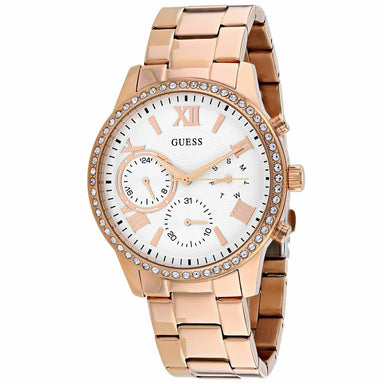 Guess Solar Quartz Rose Gold-Tone Stainless Steel Watch W1069L3