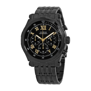 Guess Classic Quartz Chronograph Black Stainless Steel Watch W1104G2
