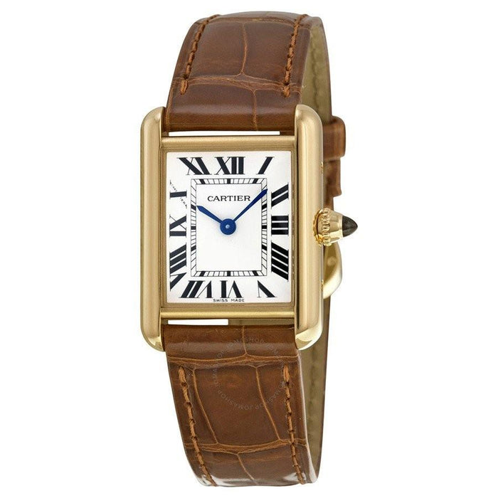 Cartier Tank Quartz Brown Leather Watch W1529856