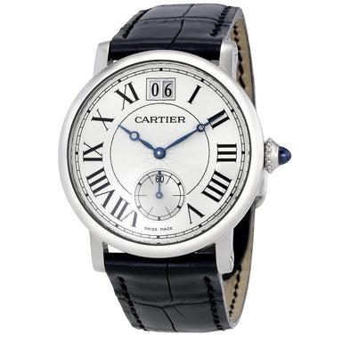 Cartier Rotonde De Cartier Automatic Black Leather Watch W1552851