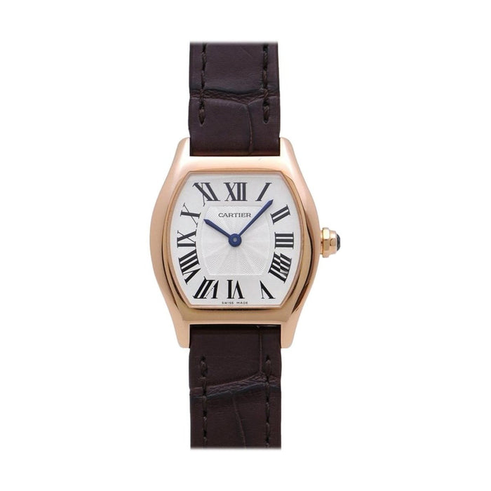 Cartier Tortue Automatic Brown Leather Watch W1556360
