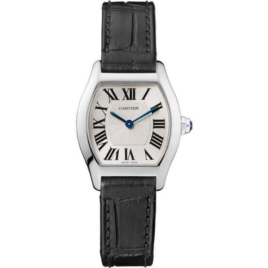Cartier Tortue Automatic Black Leather Watch W1556361