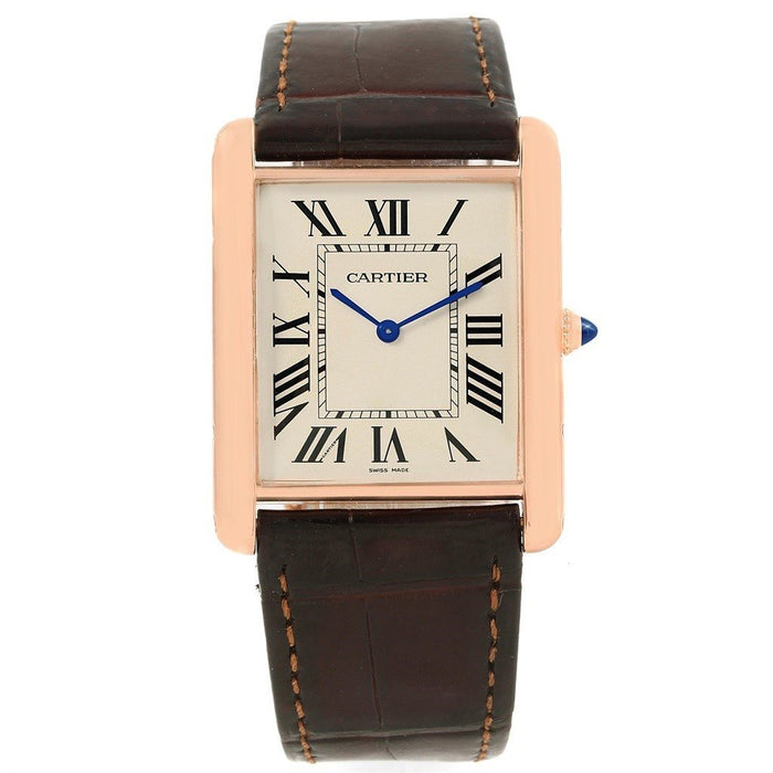 Cartier Tank Automatic Brown Leather Watch W1560017
