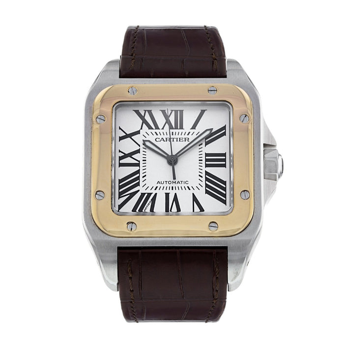 Cartier Santos Automatic Brown Leather Watch W20077X7