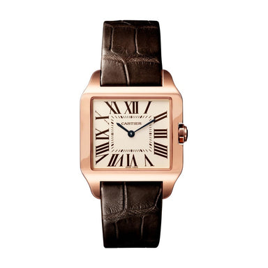 Cartier Santos Quartz Brown Leather Watch W2009251