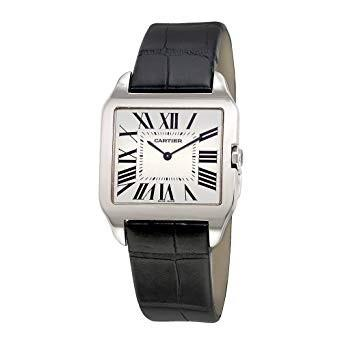 Cartier Santos Quartz Black Leather Watch W2009451