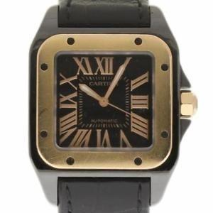 Cartier Santos Automatic Black Fabric Watch W2020007