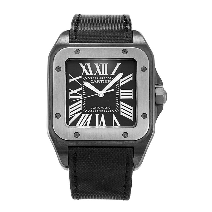 Cartier Santos Automatic Black Cloth Watch W2020010