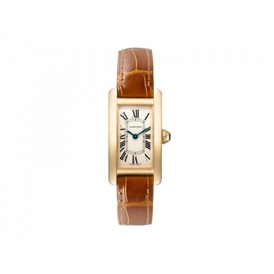 Cartier Tank Quartz Brown Leather Watch W2601556