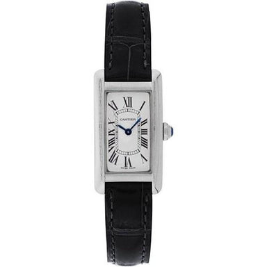 Cartier Tank Quartz Black Leather Watch W2601956