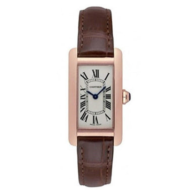 Cartier Tank Quartz Brown Leather Watch W2607456